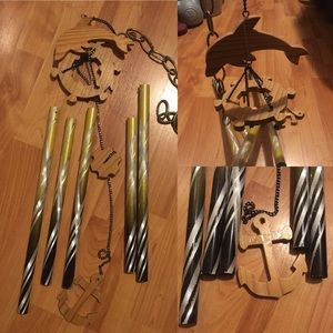 Large Wind Chime with Dolphin and Anchor